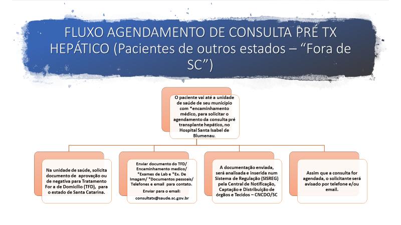 Fluxo de Agendamento de Consultas Pré Transplante Hepático