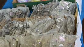 Bazar com mercadorias apreendidas pela Receita Federal