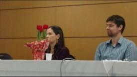 Assistente Social Maria e Dr. João Filipe de Oliveira