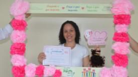 Campanha Outubro Rosa no HSI realiza ação para doação de cabelo solidária