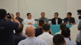 Governador de Santa Catarina é recebido pela Direção do Hospital Santa Isabel