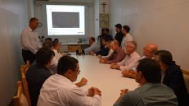 Reunião que aconteceu com a Direção do HSI