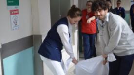 Hospital Santa Isabel recebe treinamento com simulado de abandono da Brigada de Emergência