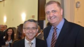 Prefeito de Blumenau, Mário Hildebradt, com Juliano Petters, Diretor Executivo do HSI