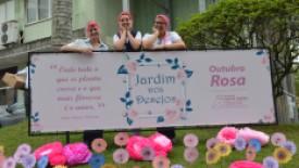Jardim dos Desejos do HSI tem plantação de flores motivacionais