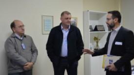 Da esquerda para a direita: Dirceu Rodrigues Dias, Juliano Petters e Marcelo Firmino Vaz