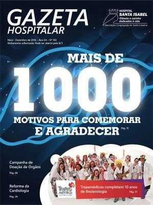 Gazeta Hospitalar Nº 183 (Maio à Dez. 2016)