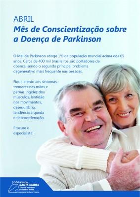 Mês de abril quer conscientizar população sobre a Doença de Parkinson