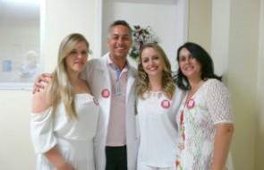 """Campanha de Combate a Violência contra a Mulher divulga o """"Laço Branco"""" no HSI"""