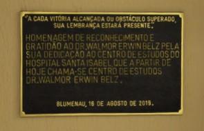 Dr. Walmor Erwin Belz é homenageado com nome do Centro de Estudos do HSI