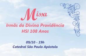 Missa em homenagem às Irmãs da Divina Providência ocorre hoje na Matriz