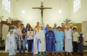 Nascimento do Menino Jesus é encenado em Missa de Natal no HSI