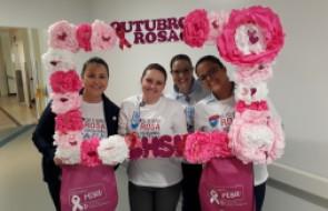 Outubro Rosa está presente no HSI através de ações que incentivam a prevenção