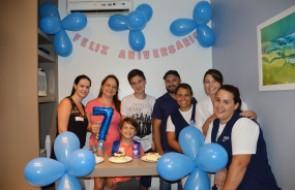 Paciente celebra aniversário do filho dentro do Hospital Santa Isabel